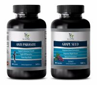 Parasite paracide - ANTI PARASITE-GRAPE SEED 2B COMBO - grape seed Antioxidant