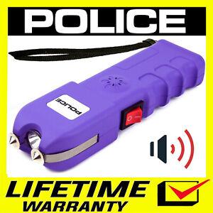 POLICE Stun Gun 928 650 BV Rechargeable With LED Flashlight - Purple