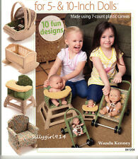 """""""FURNITURE""""~Annie's Plastic Canvas PATTERN BOOK ONLY~10 Designs for 5""""&10"""" DOLLS"""