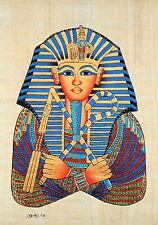 "Egyptian Papyrus -Beautiful Artwork - 9"" x 13"" -Ancient Art - King Tut's Mask #2"