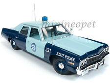 AUTOWORLD AMM1023 1974 74 DODGE MONACO PURSUIT MASSACHUSETTS STATE POLICE 1 18