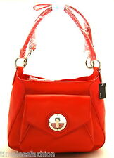 MIMCO MOLTEN HOBO LEATHER BAG IN POPPY WITH SILVER HARDWARE BNWT RRP$499