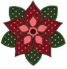 Floral Applique Quilt Block Machine Embroidery Designs 5x7 CD Brother Janome etc