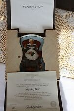 Knowles 1985 Mother's Day Rockwell Classic - Mending Time - Coa & Mailer
