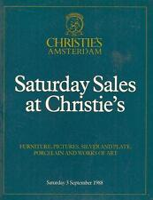 Christie's Furniture Pictures Silver Porcelain & Art Works Amsterdam 1988