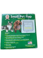 Small Pet Flap & Frame Dog Cat Transparent 4 Way Lock Easy Install In/Out