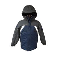 COLUMBIA Boy Puffed Jacket Youth Sz 14/16 Hooded Blue Gray Coat Ski Snowboard