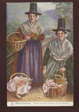 WALES Welsh Women off to Market Tuck Oilette #6140 PPC 1905