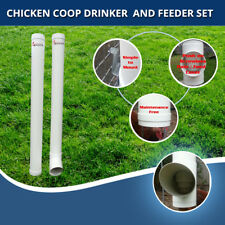 Chicken Coop Gravity Feeder and Waterer Set for Poultry - up to 5 chooks