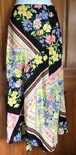 Miss Selfridge Hanky Hem Multi Color Spliced Print Skirt Size 0