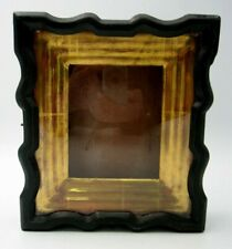 Antique 19c Russian Antique Orthodo Icon Small Kiot Goldplated Frame Shadow Box