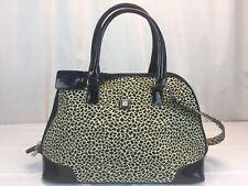 3c4f7f12ce DVF Diane Von Furstenberg Large Tote Signature Leopard Black Trim Travel Bag