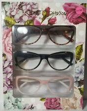 New 3 Pair Betsey Johnson Readers Reading Glasses Black Pink Brown Tortoise 1.50