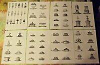 Lot de 15 planches Fac-Similé d'après le recueil de cuisine à la Russe