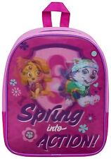 Girls Paw Patrol Lenticular School Backpack Travel Outdoor Shoulder Bag - Pink