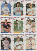 1988 Fleer Baseball Team Sets **Pick Your Team**