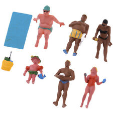 Beach Rest Traveler People Character Miniature Package (6) HO Model Figures