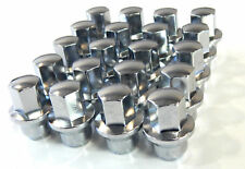 "20) CHROME LUG NUTS '12 FORD FUSION /  12X1.5"" 3/4"" HEX W/ FLANGE FOR HUBCAPS"