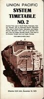 Union Pacific Timetable NO 2 December 10, 1978. FREE SHIPPING
