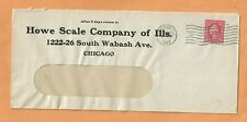 HOWE SCALE COMPANY OF ILLINOIS 1917 CHICAGO VINTAGE ADVERTISING COVER