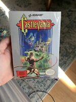 RARE Vintage Castlevania Original H-seam CIB NES seal Never Played Wata Vga New