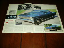 1965 FORD 427 GALAXIE 500  ***ORIGINAL 1989 ARTICLE***