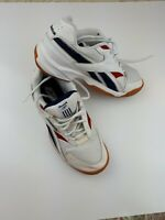 Reebok Classic Vintage Trainers RB 607 90's retro Gum sole Blue Red White UK 7