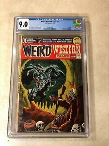 Weird Western Tales #12 CGC 9.0 VF/NM 3RD JONAH HEX Neal Adams Wrightson KEY ISS