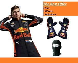 Max 2019 Go Kart Race Suit CIK/FIA level 2 Karting F1 Suit and F1 Gloves Racing
