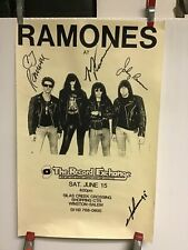 Ramones 1992 at record exchange signed by all 4 poster