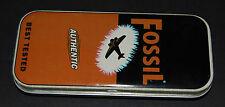 4 FOSSIL BLECHDOSEN -90er JAHRE- FÜR SAMMLER UND FANS
