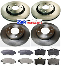 CITROEN C2 1.6 GT VTR VTS  (03-09) FRONT AND REAR BRAKE DISCS AND PADS FULL SET