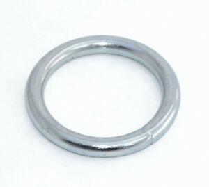 Großer Rundring Eisenring O-Ring geschweißt 80mm x 10mm Stahl verzinkt