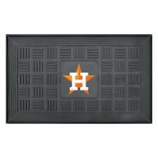 Houston Astros Door Mat 18 x 30 in. Vinyl Rubber Welcome Outdoor Team Logo Entry