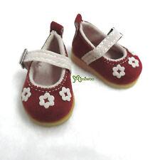 Yo-SD 1/6 Bjd Dollfie Leeke Doll Velvet Flower Shoes Red ~~~ SHIP Worldwide ~~~