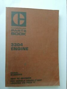 Caterpillar 3304 engine parts book.