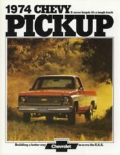 CHEVROLET 1974 Truck Sales Brochure 74 Chevy Pick Up