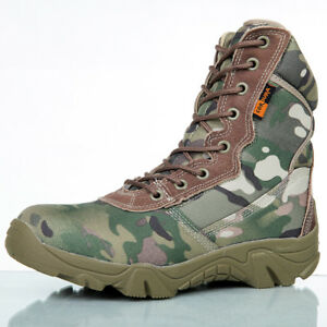 Men Military Tactical Ankle Boots 2019 Winter Camouflage Mens Combat Army Boots