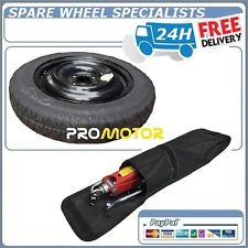 "HYUNDAI I10 & I20 2008-2016 14"" SPACE SAVER SPARE WHEEL+ JACK & BRACE COVER BAG"