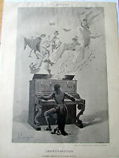 MONTEGUT / IMPROVISATION / PIANO  / SC 904 / ILLUSTRATION ANCIENNE