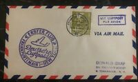 1948 Frankfurt Germany First Flight Airmail AMG cover FFC To New York USA