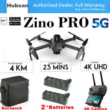 Hubsan Zino PRO 5G Wifi APP FPV Drone-12MP 4K Camera 3Axis Gimbal+2Battery+ Bag