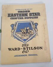 Rare early 1920 Order Of The Eastern Star Catalog # 67 Chapter Supplies
