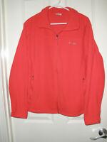 Women's Columbia Full Zip Fleece Jacket , XL, Coral Red, Two Front Zip Pockets
