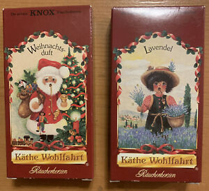 KATHE WOHLFAHRT Christmas Incense Smoker Cones Scents Germany | 2 Packs | NEW