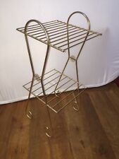 VINTAGE Mid Cent Wire Metal Starburst 2 Shelf Telephone Stand Table Book Storage