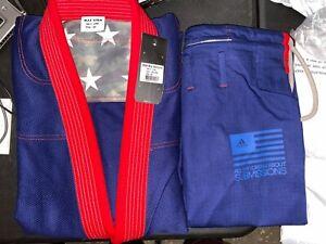 adidas Stars & Stripes Jiu Jitsu Gi A4 Navy Blue w/ Gi Bag