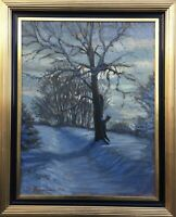 Impressionist Oil Painting Kalter Winter's Day Karl? Sörensen 1922