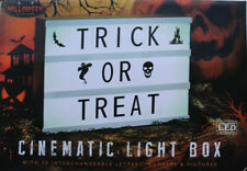 Halloween Cinematic Light Box - 70 interchangeable letters / numbers / pictures