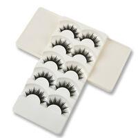 Popular Soft 5 Pairs Handmade Makeup Thick False Eyelashes Eye Lashes Long TR1